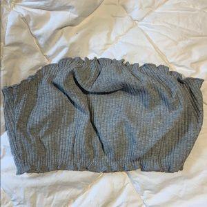 Tops - grey tube top